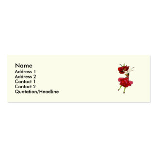 American Beauty Rose Pack Of Skinny Business Cards