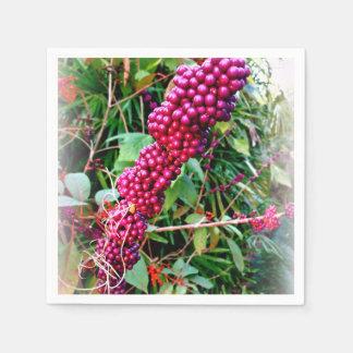 American Beautyberry at Bok Tower Gardens Florida Disposable Serviette
