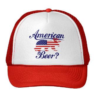 American Beer?  US Flag Bear Deer Hat