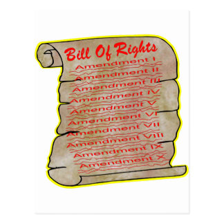 American Bill Of Rights Postcard