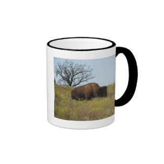 American Bison Ringer Coffee Mug
