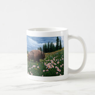 """American Bison - """"No Time For Flowers"""" Mugs"""