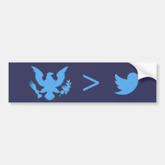 American Bold Eagle Blue Bumper Sticker