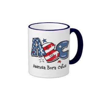 American Born Cutie Ringer Mug