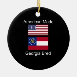 """American Born..Georgia Bred"" Flags and Patriotism Christmas Ornament"