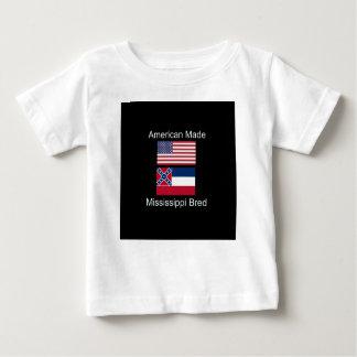 """American Born..Mississippi Bred"" Flag Design Baby T-Shirt"