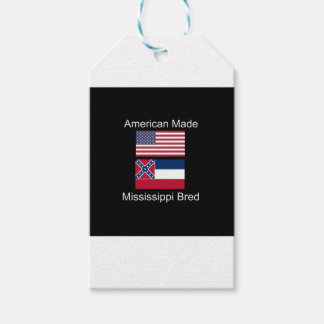 """American Born..Mississippi Bred"" Flag Design Gift Tags"