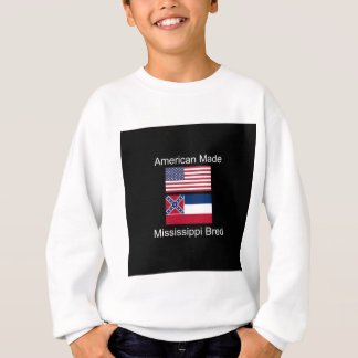 """American Born..Mississippi Bred"" Flag Design Sweatshirt"