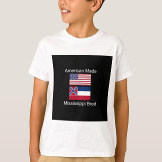 """American Born..Mississippi Bred"" Flag Design T-Shirt"