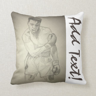 American Boxer Art Sketch Throw Pillow