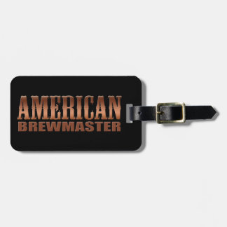 american brewmaster home brewer beer luggage tag