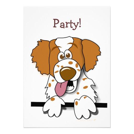 American Brittany Spaniel Cute Cartoon Dog Announcements