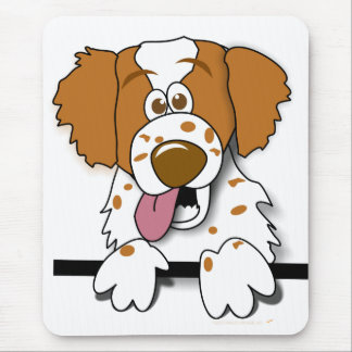 American Brittany Spaniel Cute Cartoon Dog Mouse Mat