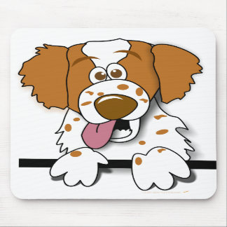 American Brittany Spaniel Cute Cartoon Dog Mouse Pad