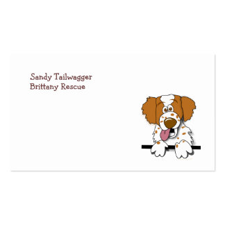 American Brittany Spaniel Cute Cartoon Dog Pack Of Standard Business Cards