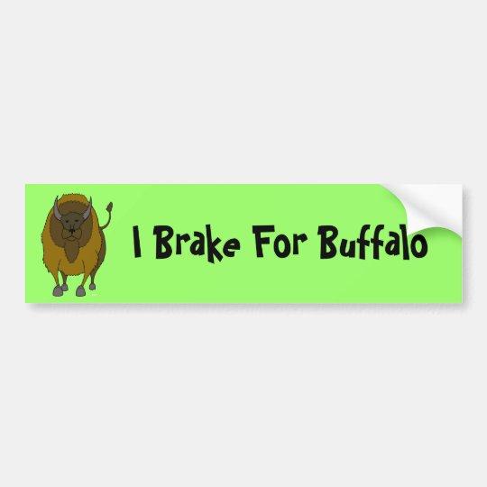 American Buffalo Bison Cartoon Bumper Sticker