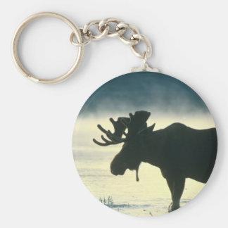 American Bull Moose Key Ring