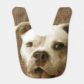 American Bulldog Baby Bib