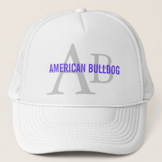American Bulldog Breed Monogram Trucker Hat