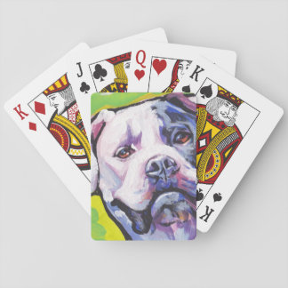 american bulldog Bright Colorful Pop Dog Art Playing Cards