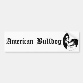American bulldog bumpersticker bumper sticker