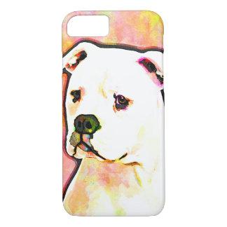 American Bulldog Pop Art Portrait iPhone 7 Case