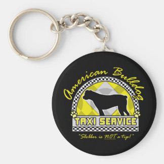 American Bulldog Taxi Service Basic Round Button Key Ring