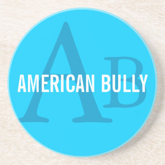 American Bully Breed Monogram Drink Coaster