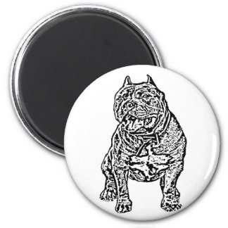 American Bully Dog 6 Cm Round Magnet