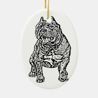 American Bully Dog Christmas Ornament