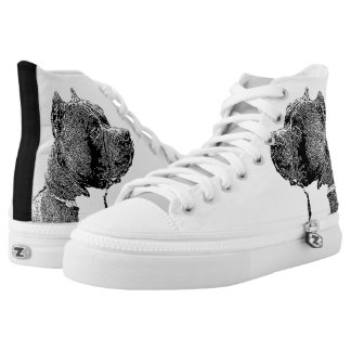 American Bully dog high top tennis shoes