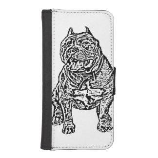 American Bully dog iPhone SE/5/5s Wallet Case