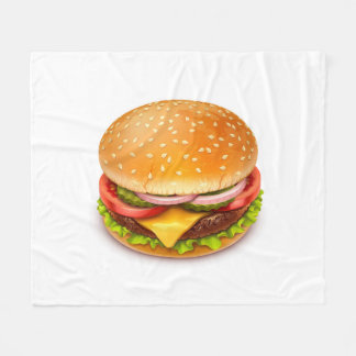 American Burger Fleece Blanket