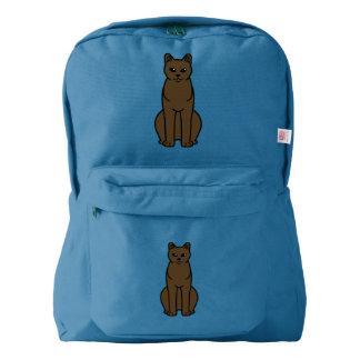 American Burmese Cat Cartoon Backpack