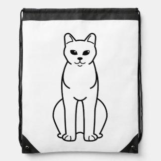 American Burmese Cat Cartoon Drawstring Backpacks