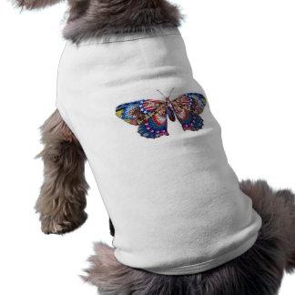 American Butterfly Sleeveless Dog Shirt