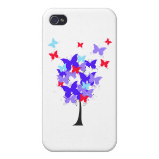 American Butterfly Tree Cover For iPhone 4