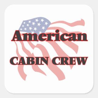 American Cabin Crew Square Sticker