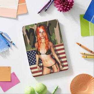 American Camo Bikini Babe iPad Pro Cover