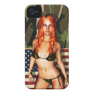 American Camo Bikini Babe iPhone 4 Case