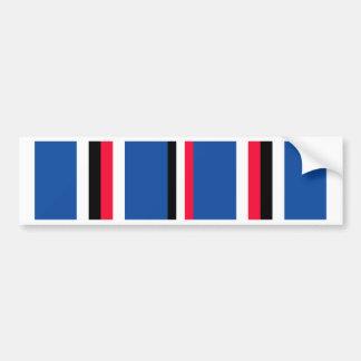 American Campaigne Medal Ribbon Bumper Sticker
