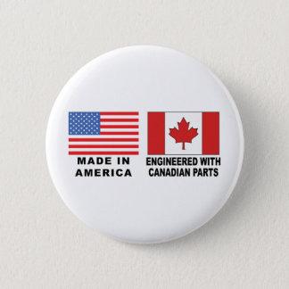 American Canadian 6 Cm Round Badge