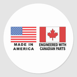 American Canadian Classic Round Sticker