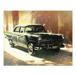 American car in Havana, Cuba photo print
