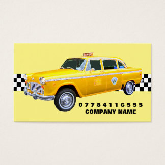 American Cartoon Style Yellow Taxi Cab And Strip