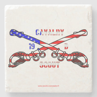 American Cavalry Marble Stone Coaster
