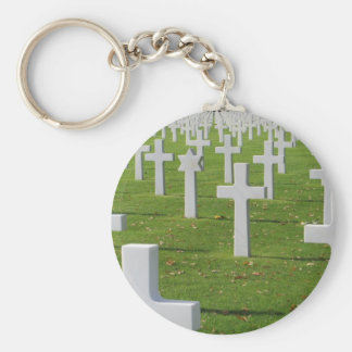 American Cemetery at Normandy Basic Round Button Key Ring