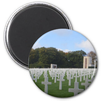 American Cemetery Luxembourg 6 Cm Round Magnet