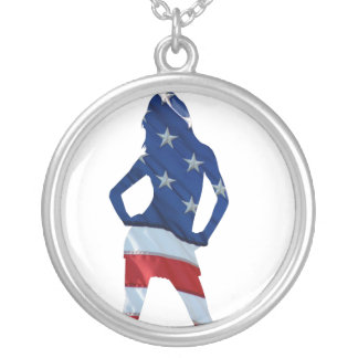 american cheerleader silver plated necklace