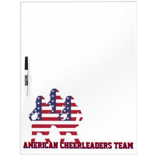 American cheerleaders team dry erase board
